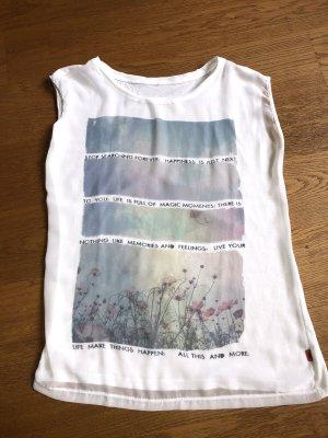 Transparentes Shirt mit Druck von QS