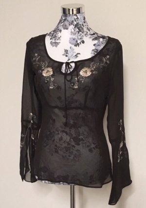 New York & Company Empire shirt donkerbruin-zwart bruin