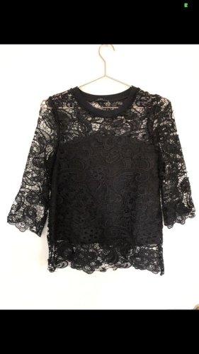 Transparentes Spitzenshirt von Zara