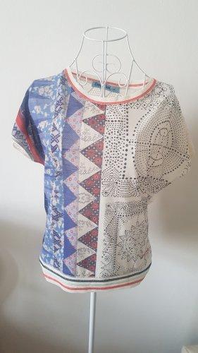Desigual Mesh Shirt white-blue