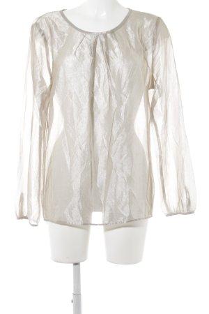 Transparenz-Bluse goldfarben Elegant