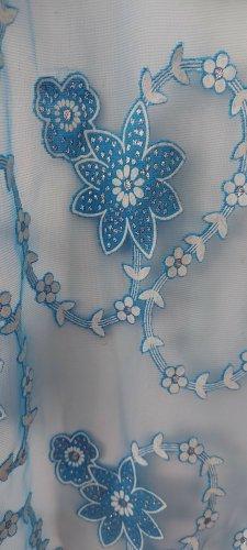 Bufanda de flecos azul bebé
