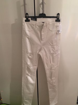 H&M Divided Hoge taille jeans wit Katoen