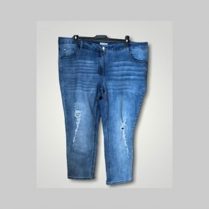 Angel of Style Jeans elasticizzati blu neon-bianco
