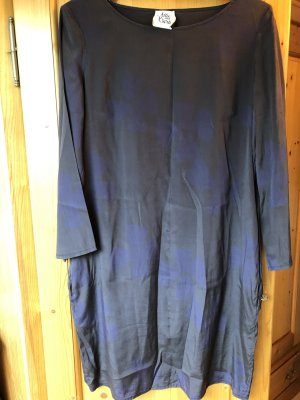 Attic & Barn Mini-jurk donkerbruin-braambesrood Zijde