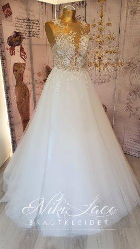 Traum Glitzer Prinzessinen Brautkleid Hochzeitskleid ivory Gr. 38 mit Etikett SALE