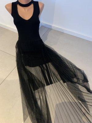 100% Fashion Avondjurk zwart Viscose