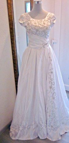 Suknia ślubna biały-srebrny