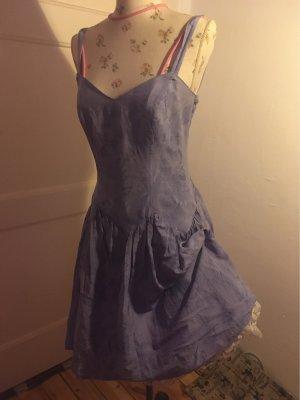 Petticoat Dress azure-white