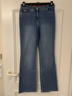 Olsen Denim Flares steel blue cotton