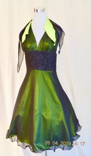 Traum Kleid für Party Abiball Jugendweihe Konfirmation GR XS 34 schwarz-grün
