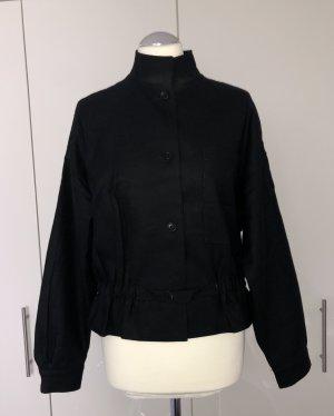 Petit Mademoiselle Blouson noir laine vierge