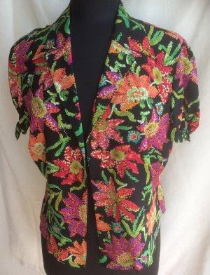 Traumhaft schöne Bluse, Luxus-Marke: Escada, floral, 100% Seide