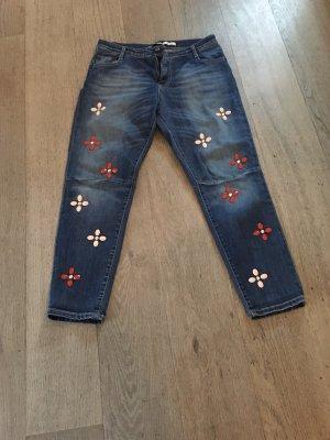 PLEASE Denim Jeans boyfriend bleu foncé
