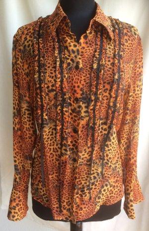 Prestige Elegance Jedwabna bluzka Wielokolorowy Jedwab