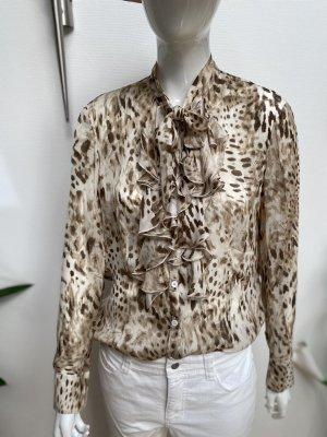 Basler Black Label Zijden blouse licht beige-bruin