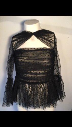 Unikat Blusa in merletto nero