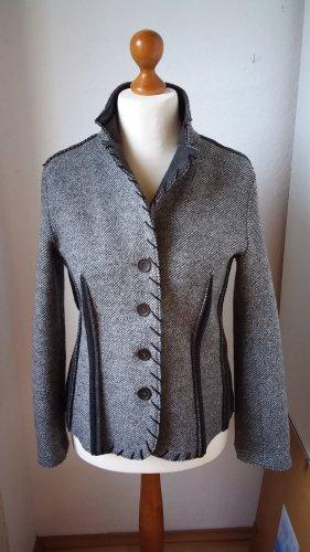 Signorelli Blazer en laine argenté-noir laine