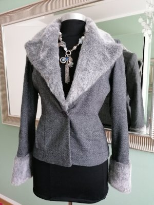 Kookai Korte blazer zilver-roze Wol
