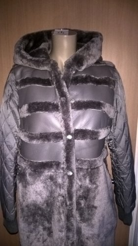 cest paris Hooded Coat grey polyester