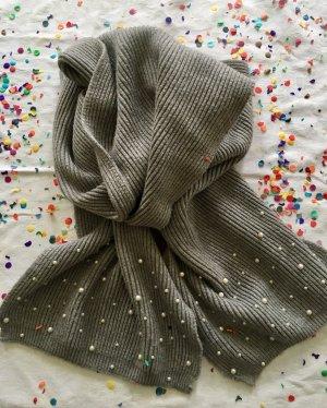 Zara Écharpe en tricot argenté tissu mixte