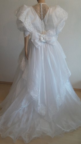 Vintage Wedding Dress white silk