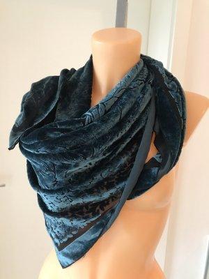 Traumhaft schönes Designer-Seidentuch * Ausbrennerseide * florales Muster * Handmade