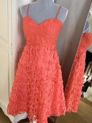 Cream Corsage Dress bright red