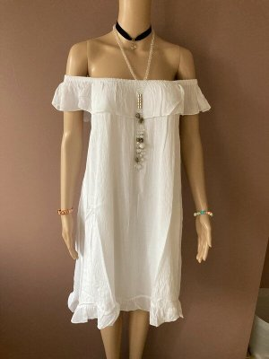 AJC Hippie Dress white cotton