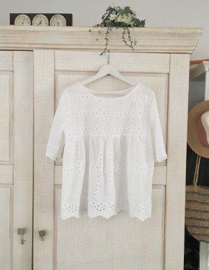 SheIn Haut à basque blanc polyester