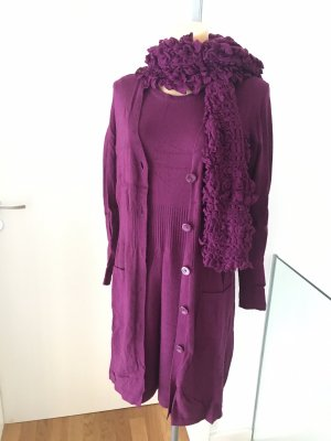 Gerry Weber Twin set in maglia viola Cachemire