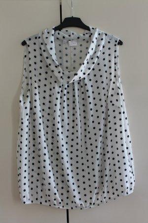 Bodyflirt Mouwloze blouse zwart-wit