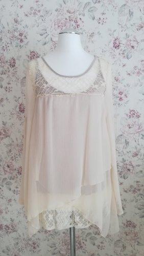 Aniston Blusa in merletto crema-beige chiaro