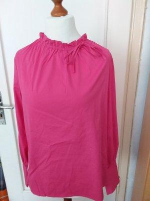 tonno & panna Blusa con lazo rojo frambuesa-magenta Algodón