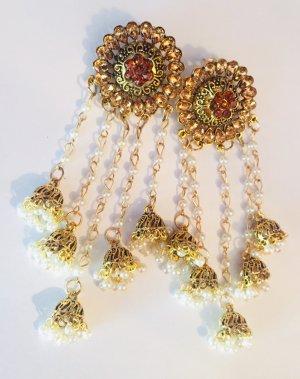 Traumhafte Boho Luxus Statement Ohrringe Orientalisch Festival Funkeln Eyecatcher!! Neu