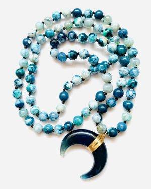 Traumhafte Boho Schick Kette Ibiza Blaue Steine