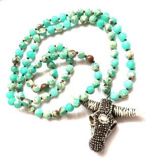 Bohemian Collier de perles multicolore