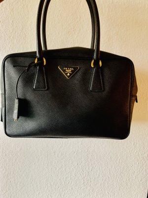 Prada Bolso negro-color oro