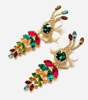 Traumhafte Ohrringe Blüten Funkeln Extrem Elegant