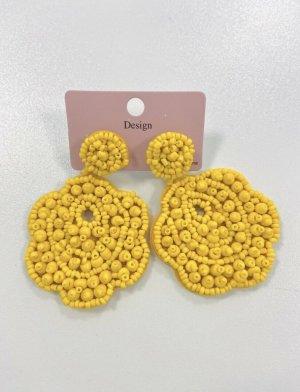 Accessoires Zdobione kolczyki żółty