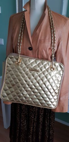 Carry Bag gold-colored imitation leather