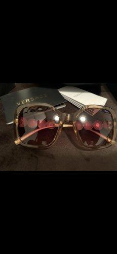 Versace Gafas de sol cuadradas color oro-marrón claro