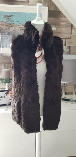 Marc Cain Fake Fur Vest taupe polyacrylic