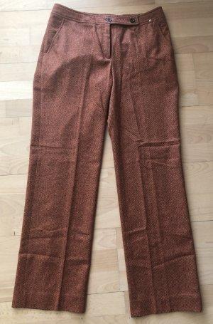 Aigner Woolen Trousers russet-dark orange wool