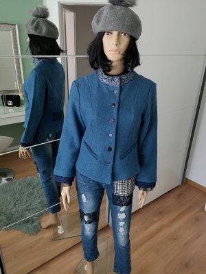 Alice Barnabe Blazer Tweed azul neón Lana