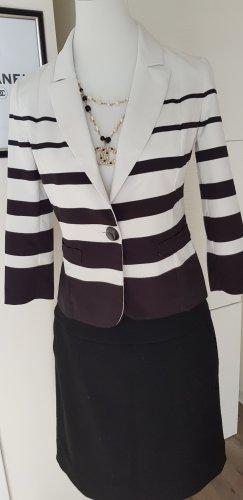 Fuego Woman Unisex Blazer black-white polyester