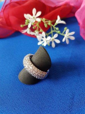 Traumhafter Brilliani 925er Sterlingsilber Ring mit vielen funkelnden Steinen, Gr.57