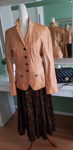 Hugo Boss Leather Blazer sand brown leather