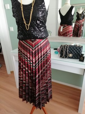 Zara Women Jupe plissée multicolore viscose