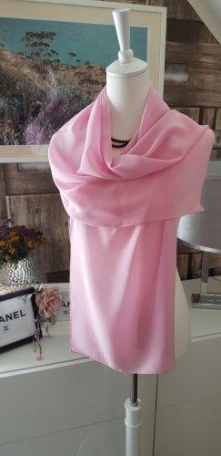 Écharpe en soie rose clair soie